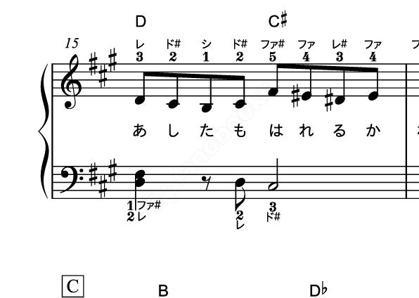 コード ピアノ パプリカ