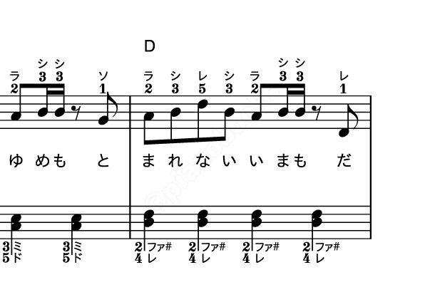 紅蓮華 楽譜 右手