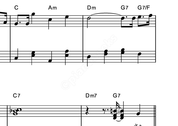 サンタが街にやってくるのピアノ楽譜クリスマスソング
