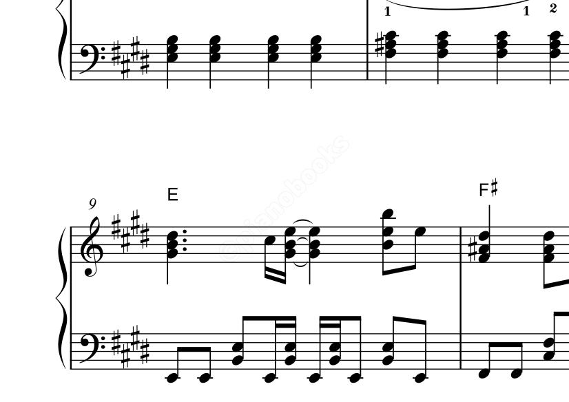 クリスマスソングのピアノ楽譜back Number